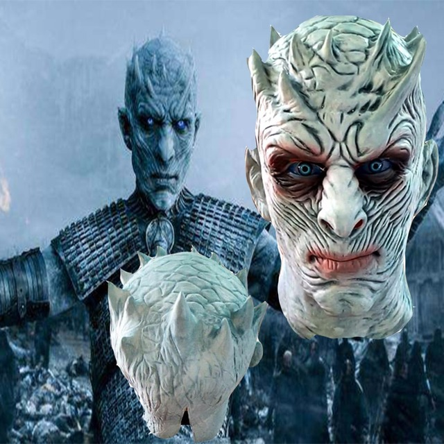 2017 Whole Sale Game of Thrones Nightu0027s King Cosplay Mask The white Walkers Masks Halloween Cosplay  sc 1 st  AliExpress.com & 2017 Whole Sale Game of Thrones Nightu0027s King Cosplay Mask The white ...