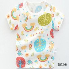 AJLONGER Cotton Boys T Shirt Summer Cartoon Printed Short Sleeve O-Neck Cute T-Shirt For Kids Boys Tee Shirt Tops cotton boys t shirt excavator summer 2019 cartoon frog printed short sleeve t shirt for kids boys tee shirt dinosaur tops