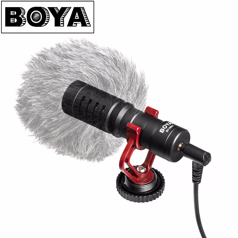 BOYA BY-MM1 Universal Cardiod Shotgun Microphone for iPhone 7 6 6s Xiaomi Smartphone Mac Tablet Canon DSLR Camera Camcorder