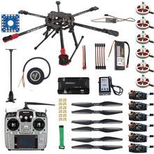 Kit completo hexacopter gps drone kit de aeronaves tarot fy690s quadro 750kv motor gps apm 2.8 controle de vôo transmissor at10ii F07803 A