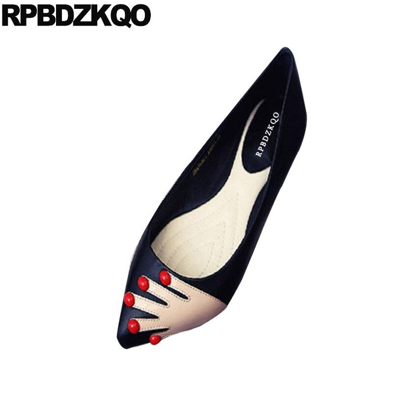 rouge Glissement Appartements Noir Chaussures Italien Grande Bout Rouge Noir Chine Imprimé Designer Pointu Femmes Hauteur Taille 2018 Croissante Robe Parti Sur y7v6fmIYbg