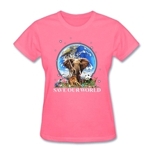 """Save Our World"" women's t-shirt / girlie"