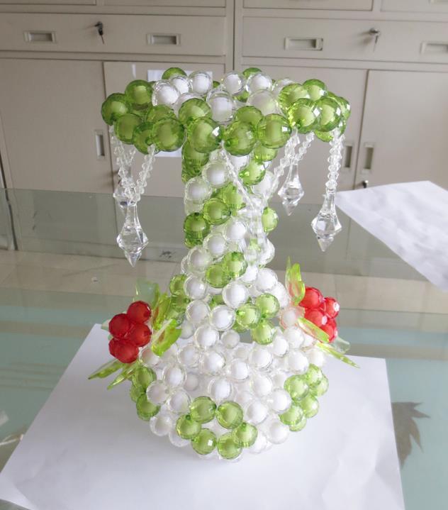 New Creative 100%DIY Handmade Bead flower Vase Ornaments Acrylic Beads for home decoration Wedding Favors for friend & New Creative 100%DIY Handmade Bead flower Vase Ornaments Acrylic ...