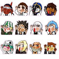 12pcs/set Bleach Stickers - 6cm Comic BLEACH Reusable Fridge Stickers Fixed Gear Luggage Sticker Home Sticker