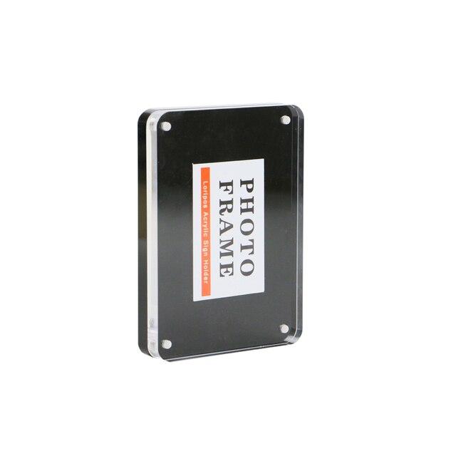 Black Magnetic Acrylic Photo Frame Stand Acrylic Sign Holder Desk ...