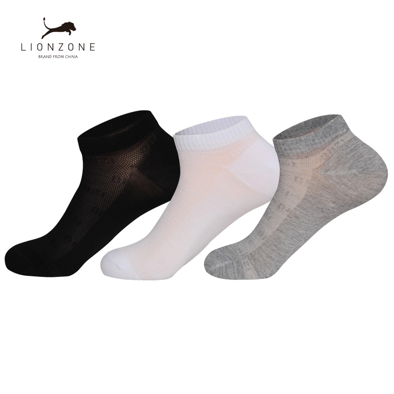 Sporty Ankle Men Socks Pure Colors Newly Spring Hot Antibacterial Breathable Gentleman Invisible Bamboo Boat Socks 3Pairs/Lot