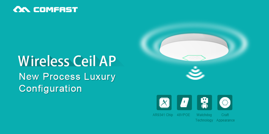 COMFAST CF E325N Access points 300Mbps Ceiling AP, wireless AP, Indoor AP  ATHEROS AR9341 Chipset 48V POE power adapter-in Wireless Routers from