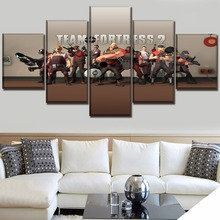 HD Printed Poster Decor Modular Pictures Framework 5 Panel Canvas Print Game Team Fortress 2 Painting Modern Wall Art Home