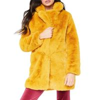 Winter Women Long Faux Fur Coat Casual Loose Tops Thick Plush Outerwear Turn Down Collar Female Hairy Furry Warm Overcoat 2XL