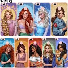 Fashion Princess Elsa Tinker Bell Cinderella Ariel Case For Xiaomi Redmi mi 8 Mi 9 Note 5A 6 4 A2 Lite A1 4X 4A 5X Etui Coque