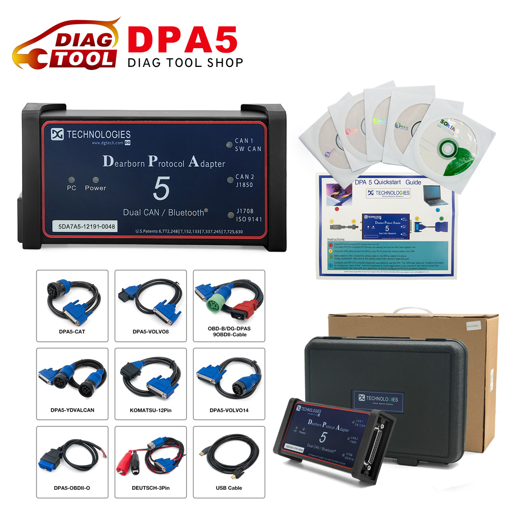 Professional DPA5 Dearborn Portocol Adapter 5 Heavy Duty Truck Scanner dpa  5 auto diagnostic tool (Without Bluetooth)-in Car Diagnostic Cables &  Connectors ...