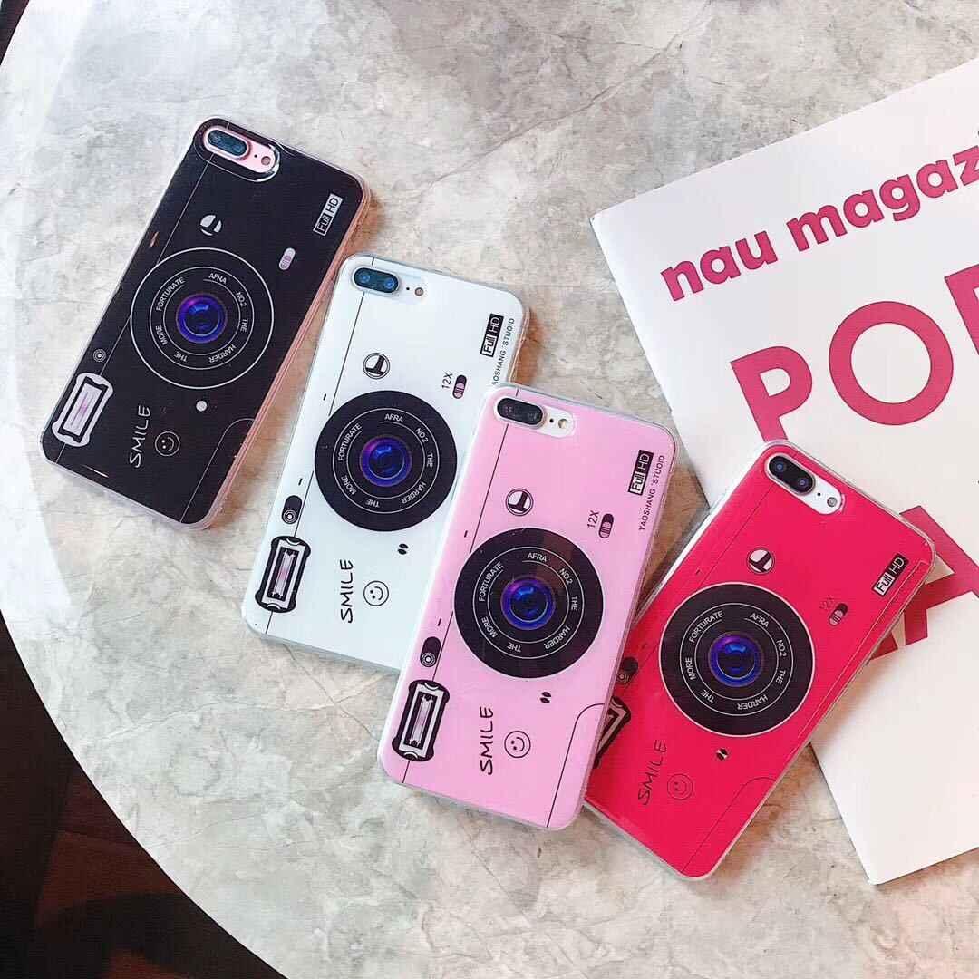 Kamera Vintage Lembut Silicone TPU Cover Untuk BBK VIVO V5S V7 Plus V11 Aku X9 X9S X20 Plus X21 Y66 y67 Y75 Y79 Y85 Y93 Y95 Y91i Y97