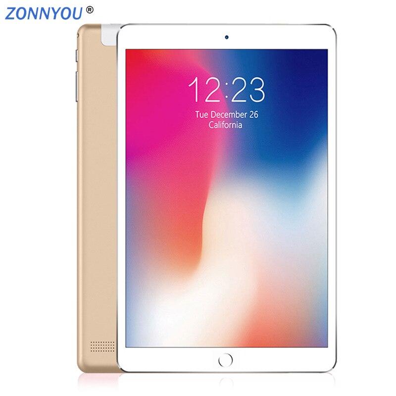 2019 Original 2.5D acier écran 10.1 pouces tablette PC 4G/3G appel téléphonique Android 8.0 Octa Core 4GB + 64GB ROM IPS double SIM tablettes PC
