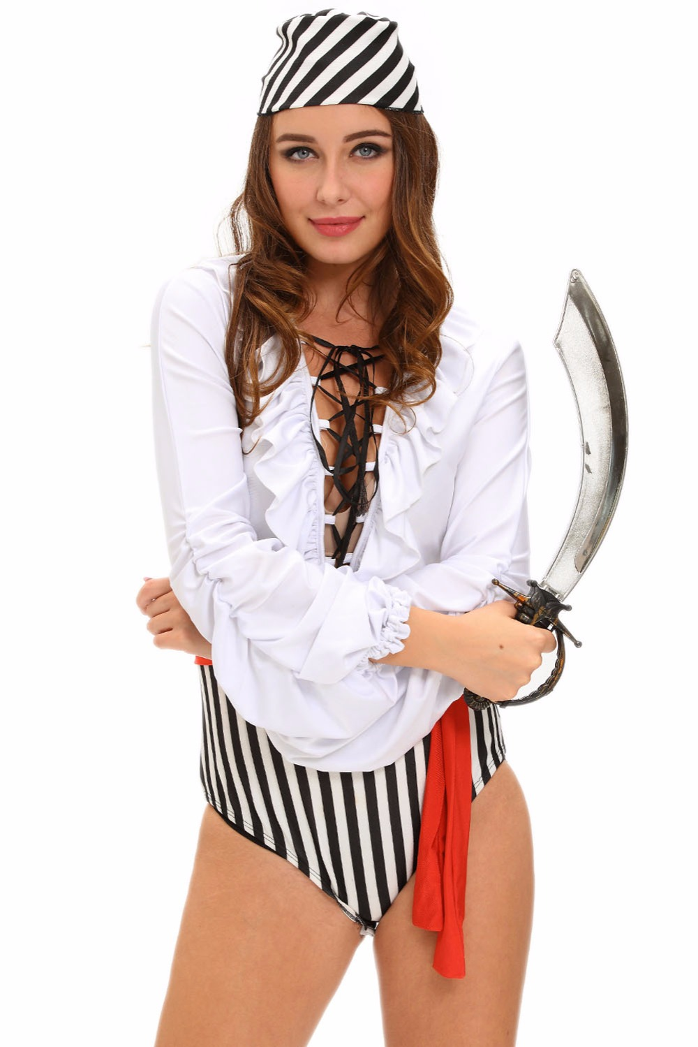 2017 new sexy adult costumes for women funny naughty pirate scoundrel long sleeve halloween cosplay lc8974 - Halloween Naughty Costumes