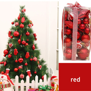 Image 2 - FUNNYBUNNY 50pcs Christmas Balls Ornaments Set Decorative Baubles Pendants with Reusable Hand held Gift Package for Xmas Tree