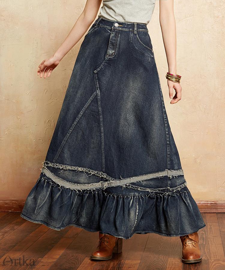02ca945ce65 ARTKA automne jupe pour femmes 2018 hiver femmes laine jupe Lolita courte  jupe pour filles Vintage Plaid jupe Mini Saia QA10058QUSD 50.41 piece