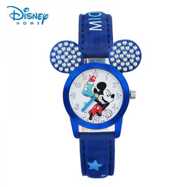100% Genuine Disney watches mickey mouse watch with diamond for children's birthday gift cartoon Wristwatches Reloj 86301