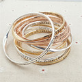 "20pcs/lot Newest Women Fashion copper Charms lettering ""SISTERS are forever my friends"" BFF Fashion Bangles"