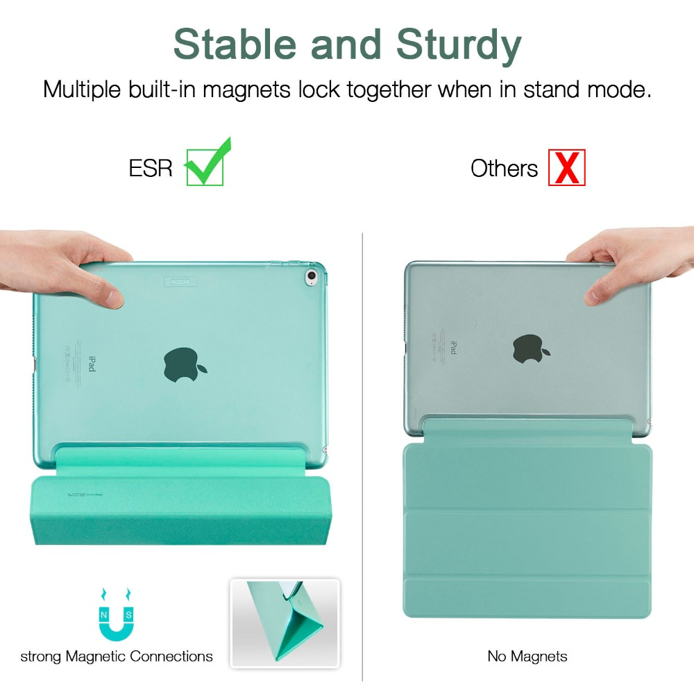 Case untuk iPad Air 2, ESR Yippee Color PU + Transparent PC Kembali - Aksesori tablet - Foto 4