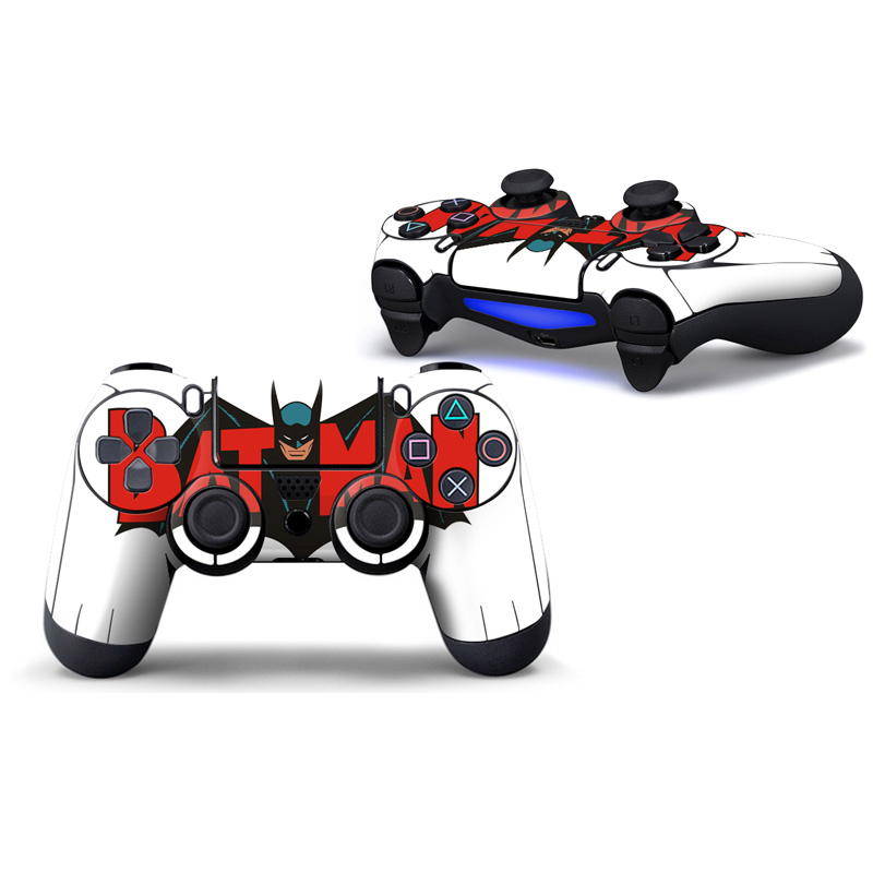 2pcs Vinyl Decals Skin Stickers 2 Pack for PS4 Controllers Skin sticker for ps4 slim for ps4 pro batman