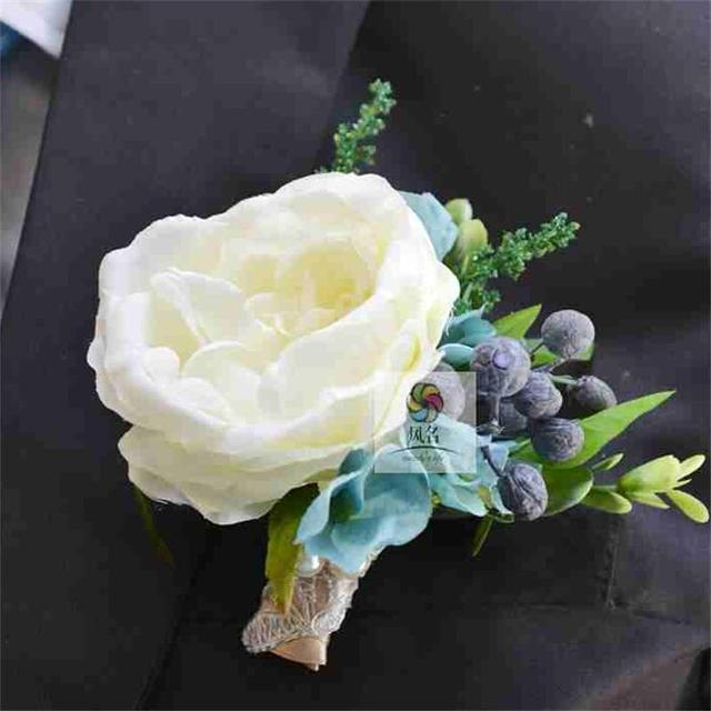 1 pieces lot diy artificial silk flowers wrist corsage grooms bride 1 pieces lot diy artificial silk flowers wrist corsage grooms bride best man suit boutonniere mightylinksfo Choice Image