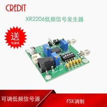XR2206 ajustável módulo gerador de sinal de baixa frequência-0.1Hz-1 M seleção de forma de onda de modulação FSK de ajuste de amplitude
