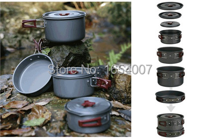 4-5 Persons Set Be Cocina Frying Pan Cauldron Medium Pot Pannikin Camping Pot Sets Cooking Cookware Fire Maple FMC-206 1270g fire maple fmc td3 camping titanium pot set ultralight 1 2 person outdoor picnic cooking cookware pot frying pan 174g