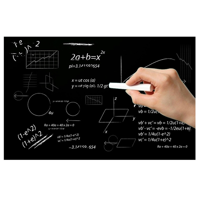 42 * 60cm Creative Chalkboard Stickers Removable DIY Blackboard Wall Papers With Regular Chalks for Kindergarten Kids Room Decor