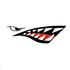 Image 3 - 2 Pcs Waterproof DIY Funny Rowing Kayak Boat Shark Teeth Mouth Sticker Vinyl Decal Sticker For Kayak Canoe Boat Left & Right