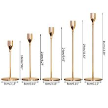 Simple Modern Style Gold Metal Candle Holders Elegant Candlestick Simple Design Wedding Decoration Clubs Parties Home Ornament silver gold 3 arms metal pillar candle holders candlestick wedding decoration stand mariage home decor candelabra