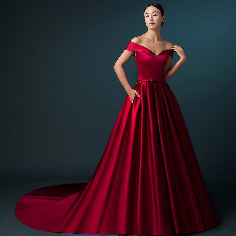 Red Satin Aline Dress Fashion Dresses
