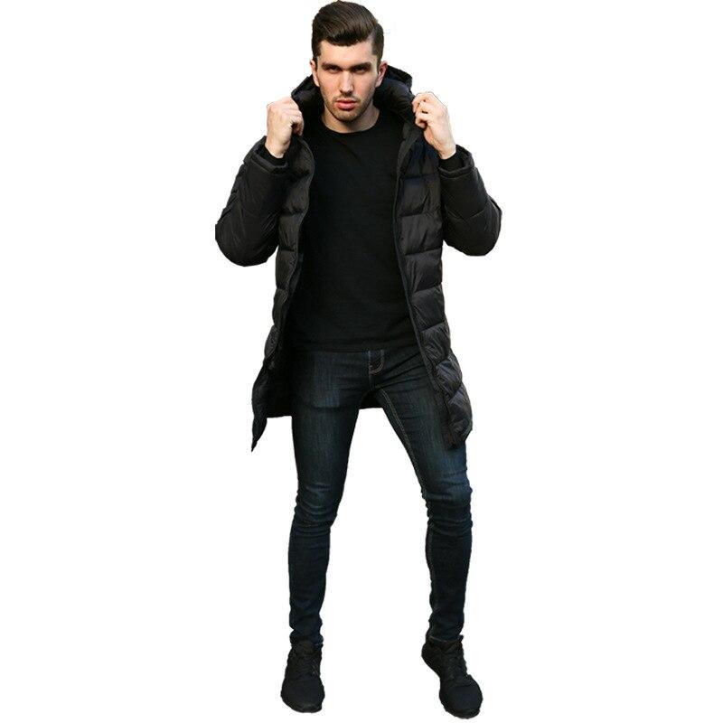 Ropa Abrigo Para De Largo Grueso Tamaño Chaqueta Cálido Cremallera El Sólido Parkas Negro Hombre Invierno Más Nueva Hombres Moda q7wO5z
