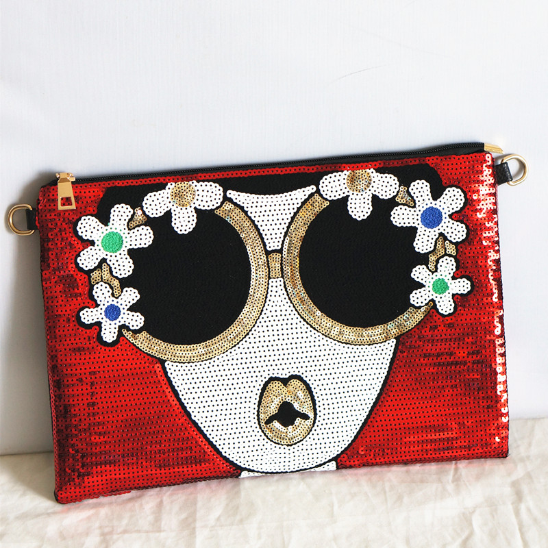 2018 Verkauf Luxus Handtaschen Frauen Taschen Designer Frauen Neue Kupplung Tasche Licht Hand Helle Charakter Messenger Wilden Große Kapazität Damentaschen