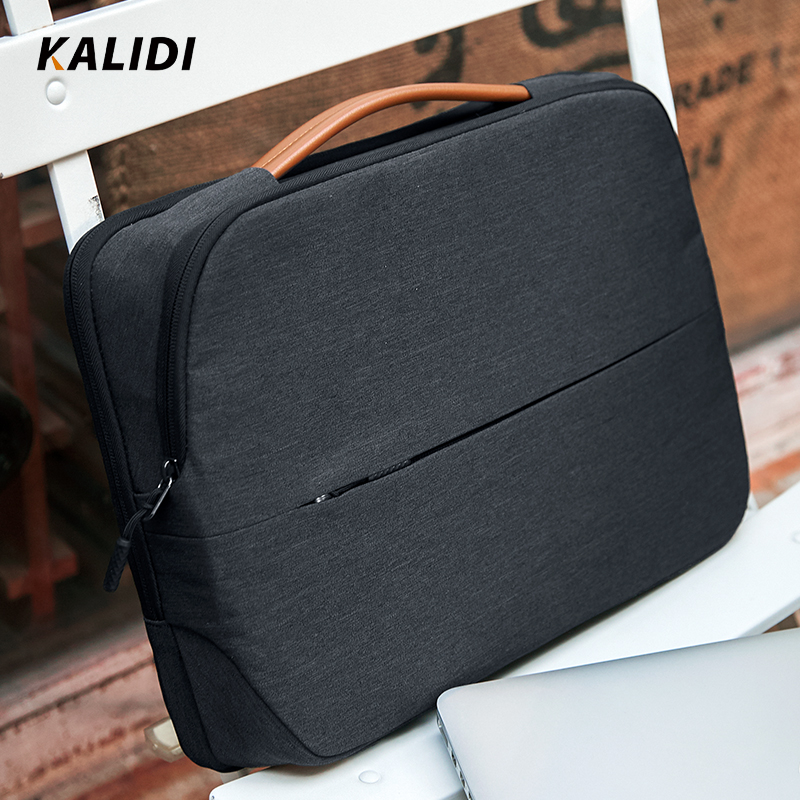 KALIDI Laptop Bag 11 12 13.3 14 15.6 Inch Waterproof Notebook Bag 15 Inch For Macbook Air Pro13 15 Black Laptop Sleeve Women Men