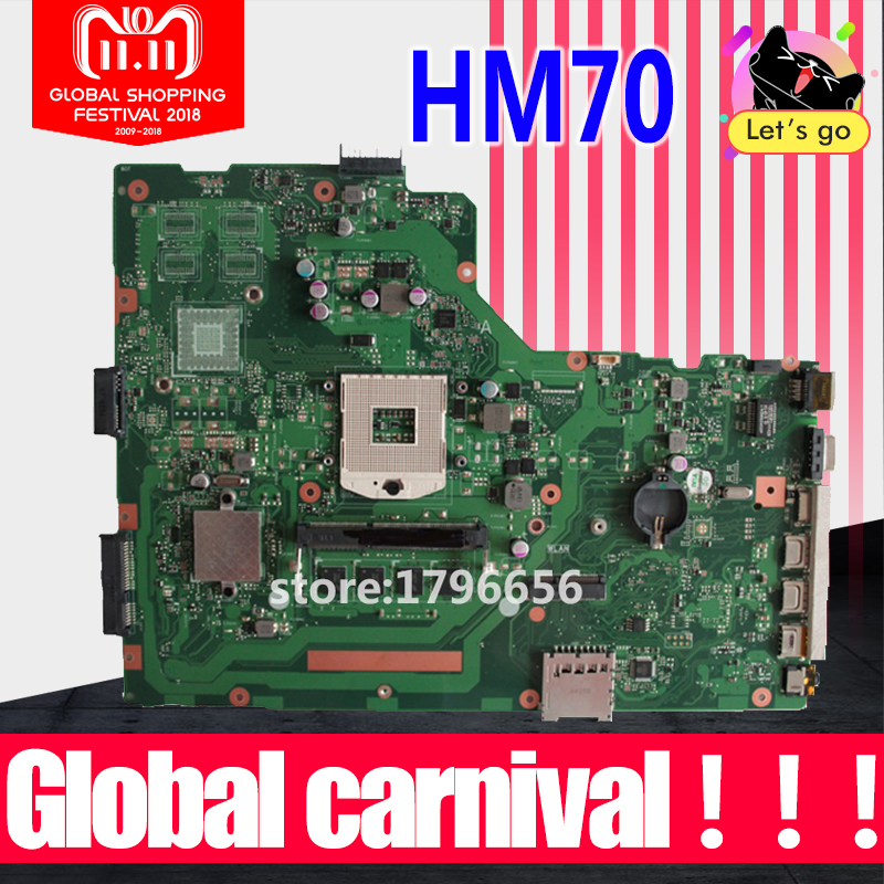 X75A 4G RAM mainboard HM70 SLJNV Support B series cpu For ASUS R704V X75VD X75A X75A1 X75V X75VB X75VC Laptop motherboard for asus x401a x501a hm70 sljnv b820 b940 laptop motherboard rev2 0 ddr3 pga989 mainboard 100