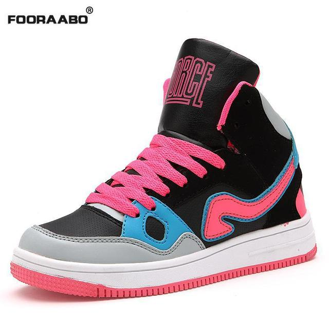 Hot Sale 2016 Autumn Winter Fashion High Top Women Casual Shoes Outdoors Female Walking Shoes Breathable Red Woman Shoes