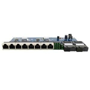 Image 3 - 2G8E 8UTP RJ45 Gigabit Ethernet Switch 2*1,25G Faser port SC stecker 8*10/100/100 0M PCBA Bord Fibra optische Konverter platte