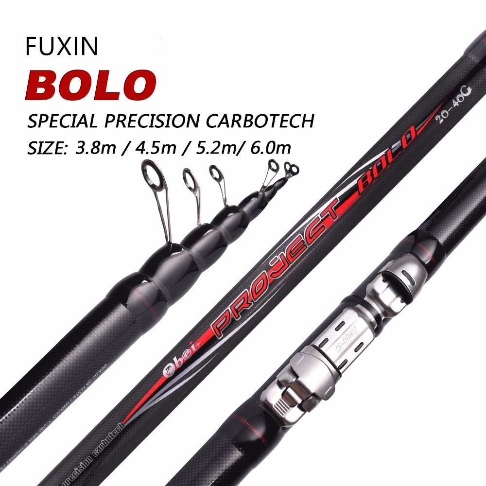 Fuxin 99% Carbon Fiber Fishing Rod Telescopic Spinning Short Sea Rod Travel Lightweight Port Black Fishing Rod 3.8 6m 90cm