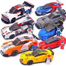 Техника город супер гонщики скорость чемпионов суперкар гоночный автомобиль строительные блоки кирпичи игрушки DIY для детей Модель legoingly oyuncak