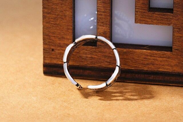 100% 925 argent Sterling animaux poisson anneaux ouvert réglable prévenir allergie bague pour les femmes de mariage Bijoux Femme sl038