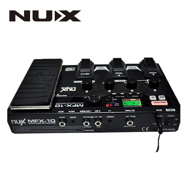 NUX MFX-10 Modeling Guitar Effects Processor Guitar Modeling Processor nux mg 20 electric guitar multi effects pedal guitarra modeling processor with drum machine eu plug