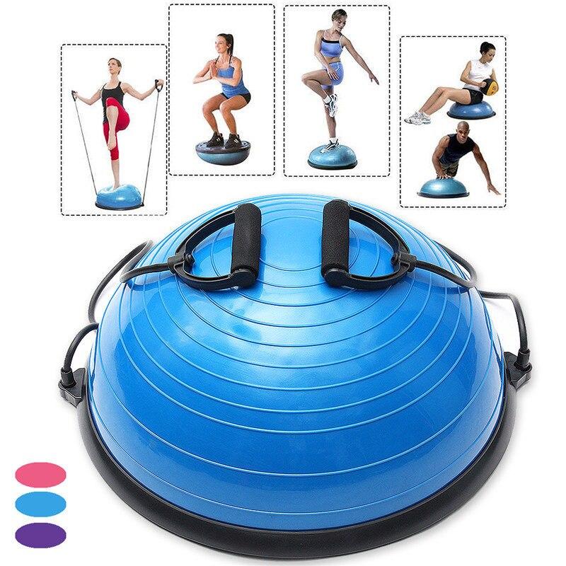 Hot Sale PVC InflatableYoga Half Ball Balance Trainer Fitness Strength Exercise Gym Pilates ball Fitness Ball Balancing Balls