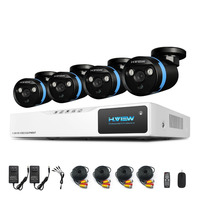 8CH CCTV 시스템 HDMI DVR 1080 마력 NVR CCTV 보안 카메라 시스템 4 개 IR 야외 비디오 감시 카메라 키트 H.