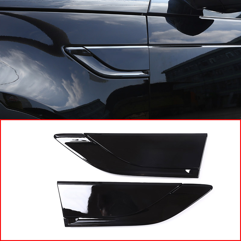 Car ABS Piano black Side Air Fender Vent Trim for Land Rover Discovery 5 LR5 2017