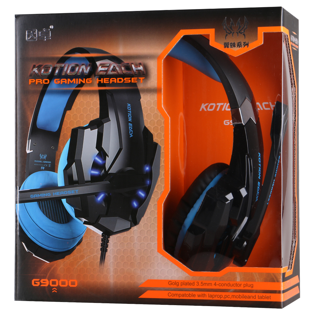 03bacaa66ff KOTION EACH G9000 font b Gaming b font Headset Wired earphone Game headphone  with microphone led