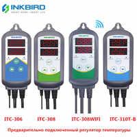 Inkbird 4 tipos de plugue da ue controlador de temperatura pré-conectado digital controlador de temperatura
