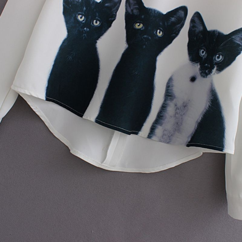 HTB1YPfjJVXXXXbpaXXXq6xXFXXXj - New Fashion Cats Printed Pullover Shirts Long Sleeve Casual