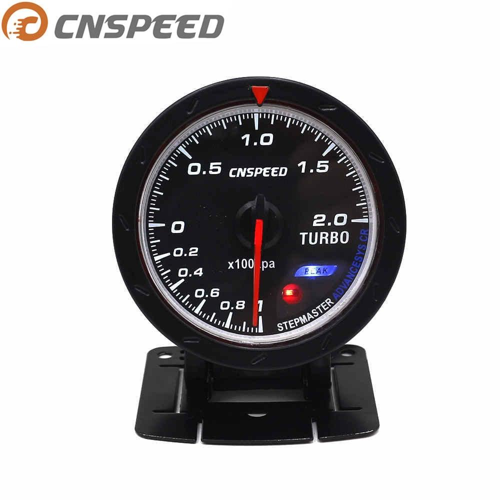 CNSPEED автомобильный турбонаддув, 60 мм, 12 В, красный и белый индикатор освещения, черный датчик давления лица YC101347