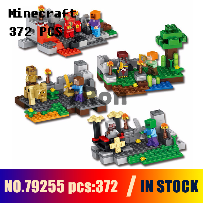Compatible with lego Models building kits 79255 372pcs 4set My World WiZard King Gyro Rock Knight Building Blocks toys & hobbies