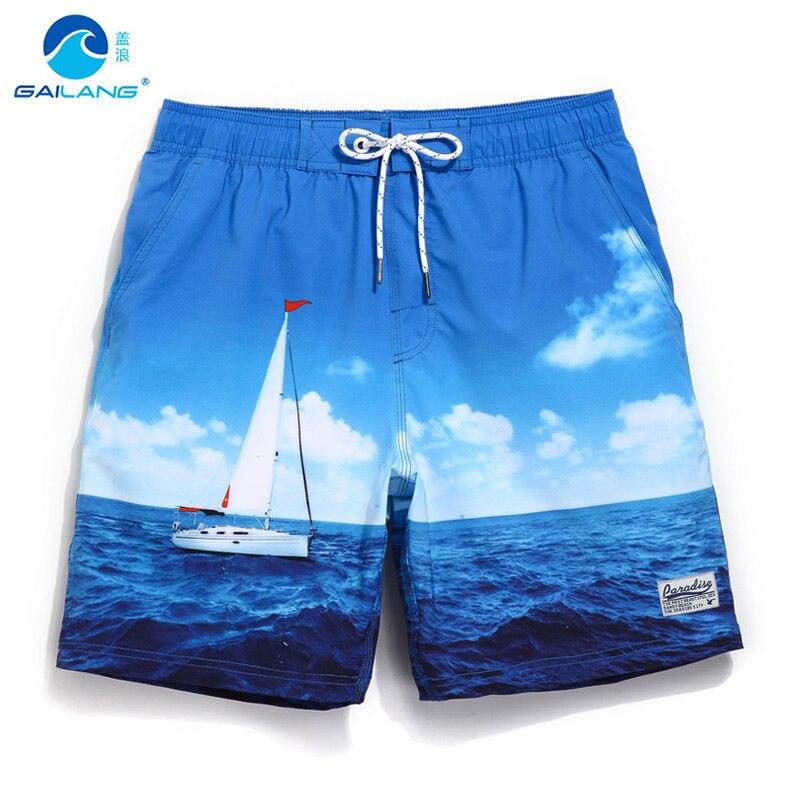 Gailang summer board shorts loose swimwear men swimming trunks liner mesh sweat sexy swimsuits mens bermudas beach surf praia цена